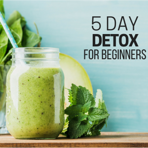 5 Day Detox Social Media graphic - green smoothie